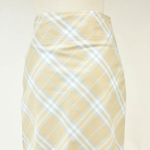 Burberry Beige & Blue Nova Check Knee-length Skirt